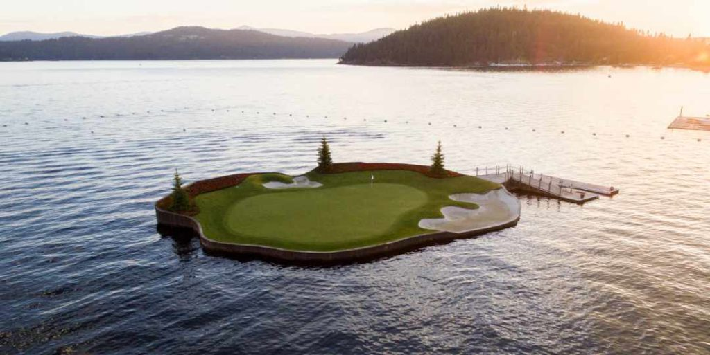 The Floating Green at Cd'A Golf Course