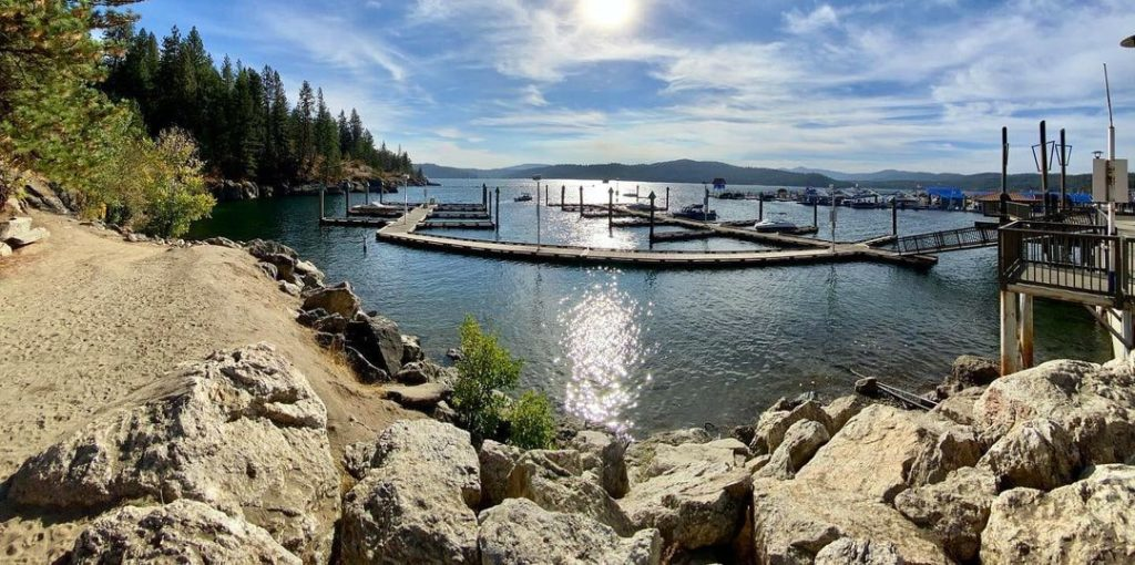 Lake Coeur d'Alene and Tubbs Hill view